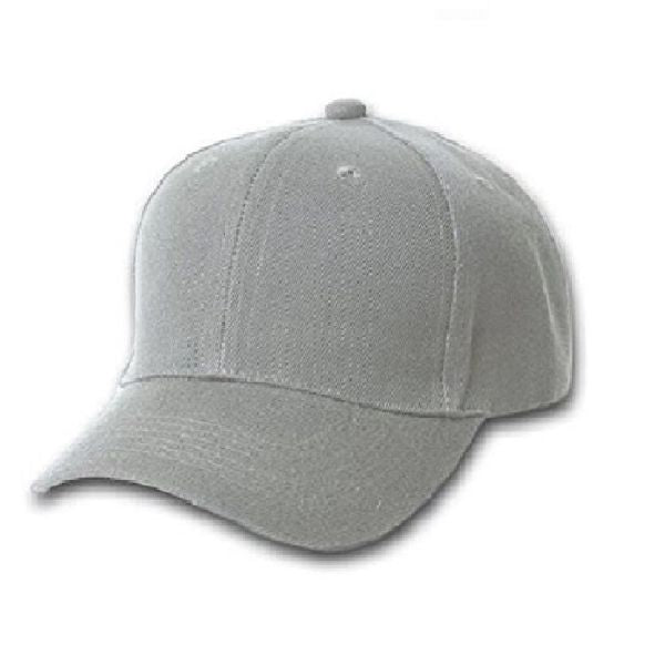 Solid Unisex Baseball Caps - Adjustable Plain Hat - 4 Pack-Grey-Daily Steals