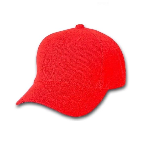 Solid Unisex Baseball Caps - Adjustable Plain Hat - 4 Pack-Red-Daily Steals