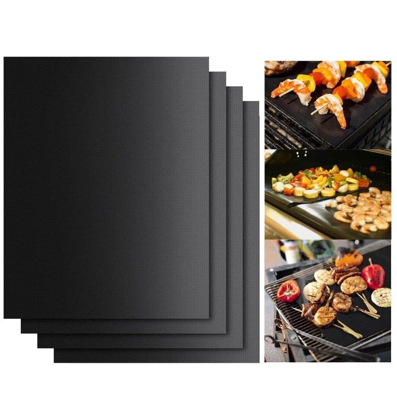 BBQ Boss Grilling Bundle Apron and 4-Pack Nonstick Grill Mats-Daily Steals