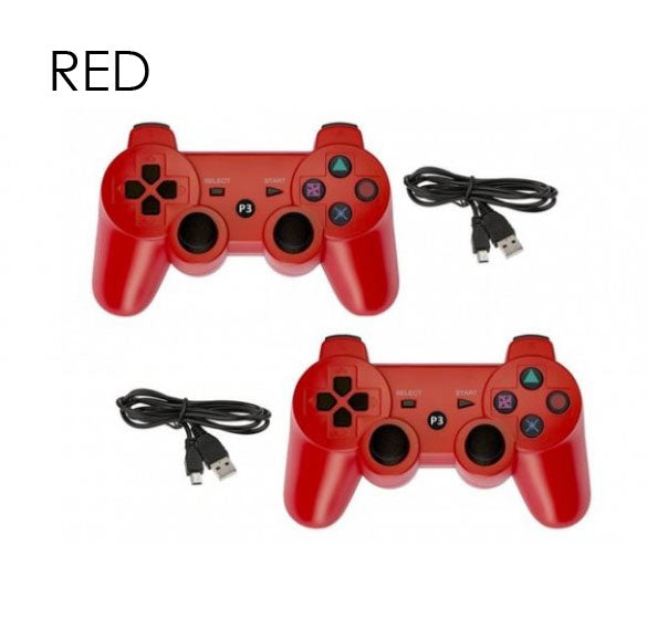Bluetooth Controllers for Sony PlayStation 3 Wireless - 2 Pack-Red-Daily Steals