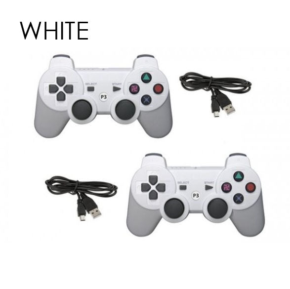 Bluetooth Controllers for Sony PlayStation 3 Wireless - 2 Pack-White-Daily Steals
