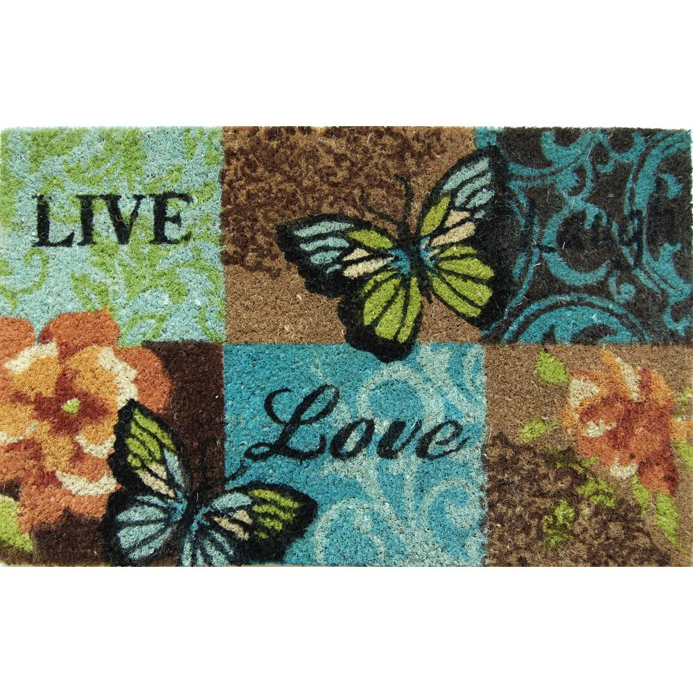 "18"" x 28"" Outdoor Printed Coir Mat-Daily Steals"