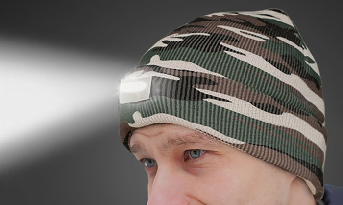 LED Headlamp Beanie for Men and Women-Camo-Daily Steals