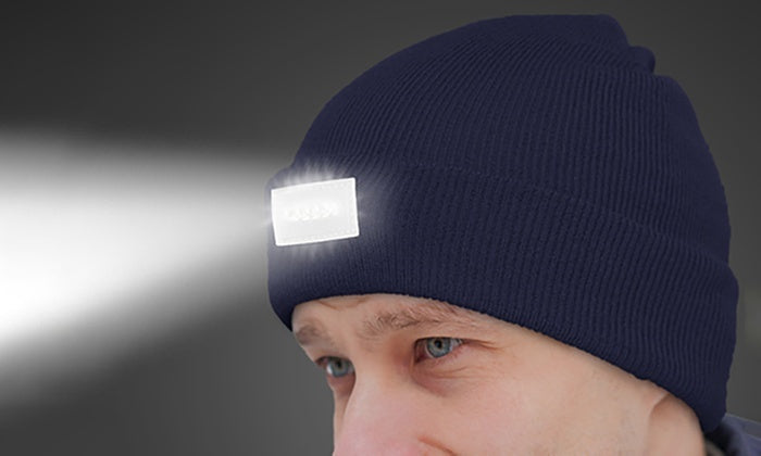 LED Headlamp Beanie for Men and Women-Navy-Daily Steals