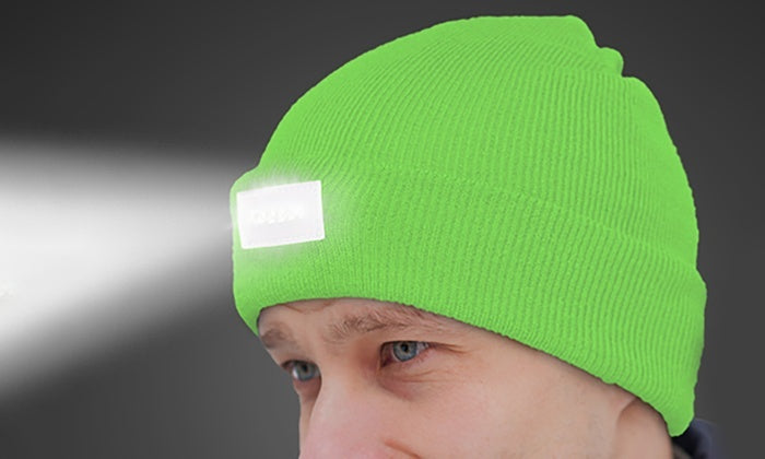 LED Headlamp Beanie for Men and Women-Neon Green-Daily Steals