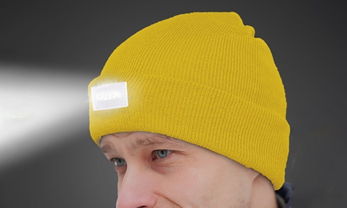 LED Headlamp Beanie for Men and Women-Neon Yellow-Daily Steals