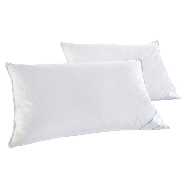 Beauty Sleep 2 or 4 Pack: 100% Cotton-Covered Duck Feather Pillows-2-Pack-Standard/Queen-Daily Steals