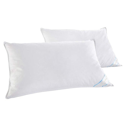 Beauty Sleep 2 or 4 Pack: 100% Cotton-Covered Duck Feather Pillows-2-Pack-Standard/Queen