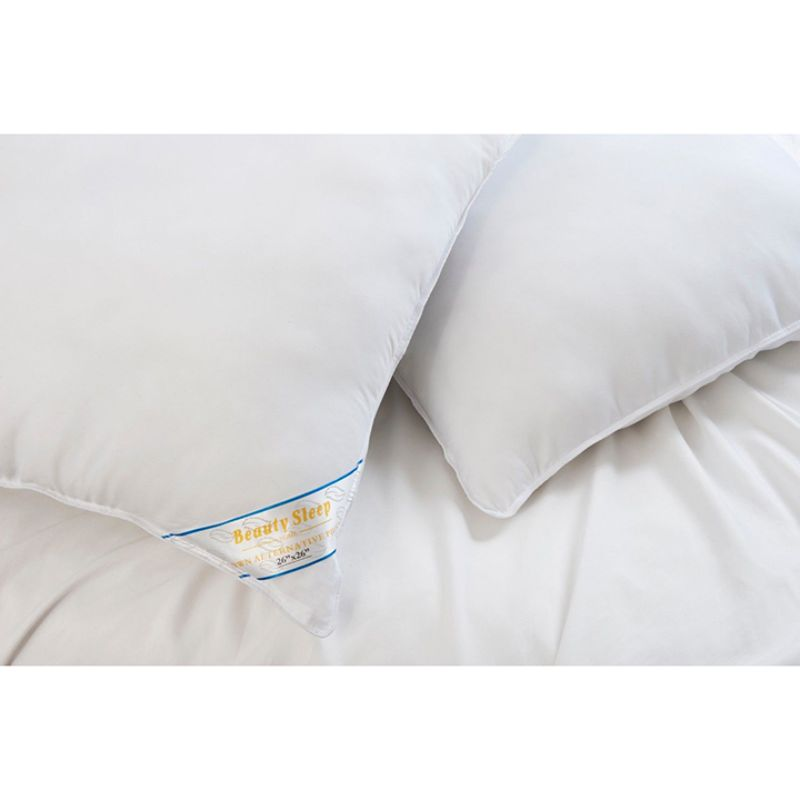 Beauty Sleep 2 or 4 Pack: 100% Cotton-Covered Duck Feather Pillows-Daily Steals