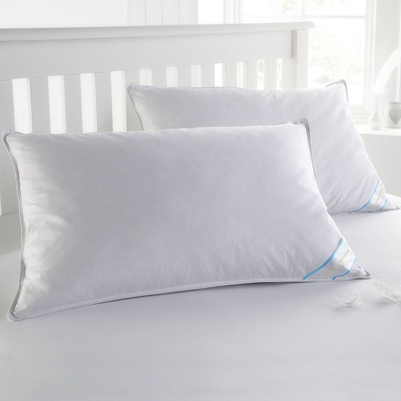 Beauty Sleep 2 Pack: 100% Cotton-Covered Duck Feather Pillows