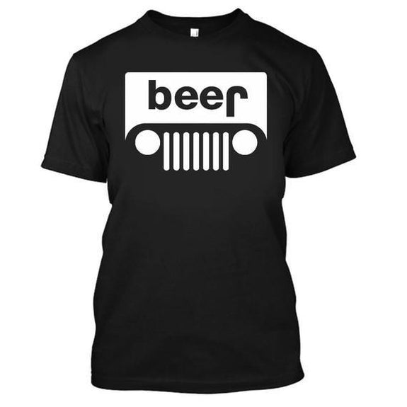 Adult Beer Jeep Funny Drinking Party T-Shirt-Black-XL-Daily Steals