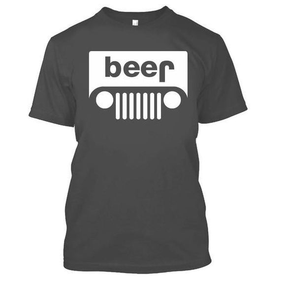 Adult Beer Jeep Funny Drinking Party T-Shirt-Charcoal-XL-Daily Steals