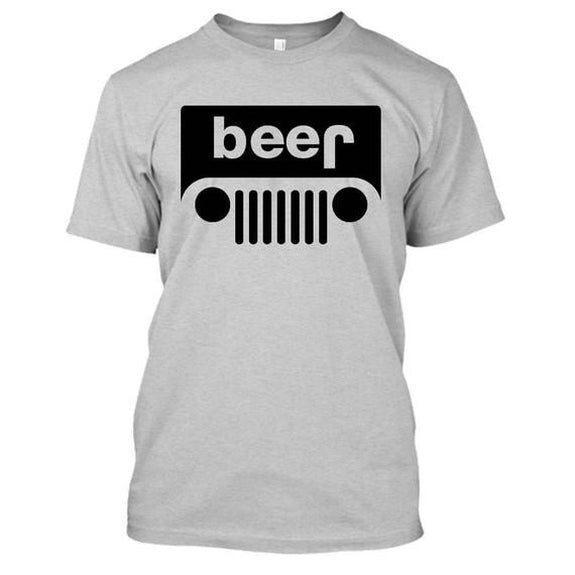 Adult Beer Jeep Funny Drinking Party T-Shirt-Sports Gray-XL-Daily Steals