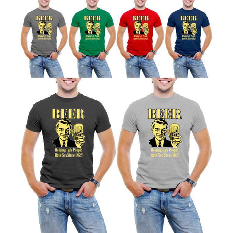 """Beer Helping Ugly People..."" Men's T-Shirt-Daily Steals"