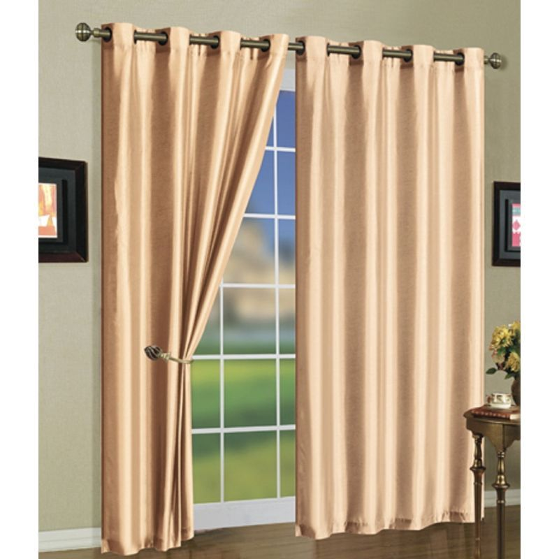 Set of Two Stylish Curtain Panels with Rod Grommets: 58 x 84 Inches-Daily Steals