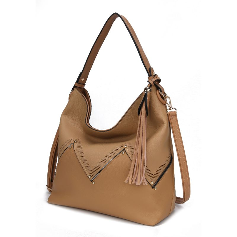 Belmey Hobo Vegan Leather Handbag by MKF-Apricot-Daily Steals
