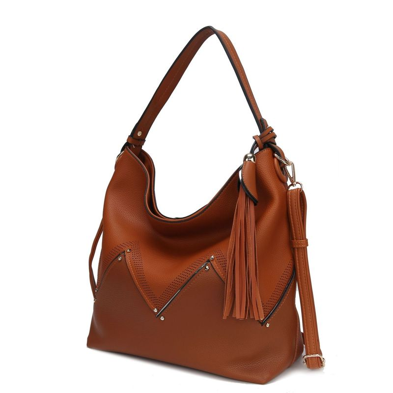 Belmey Hobo Vegan Leather Handbag by MKF-Brown-Daily Steals