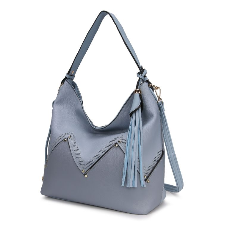 Belmey Hobo Vegan Leather Handbag by MKF-Sky Blue-Daily Steals