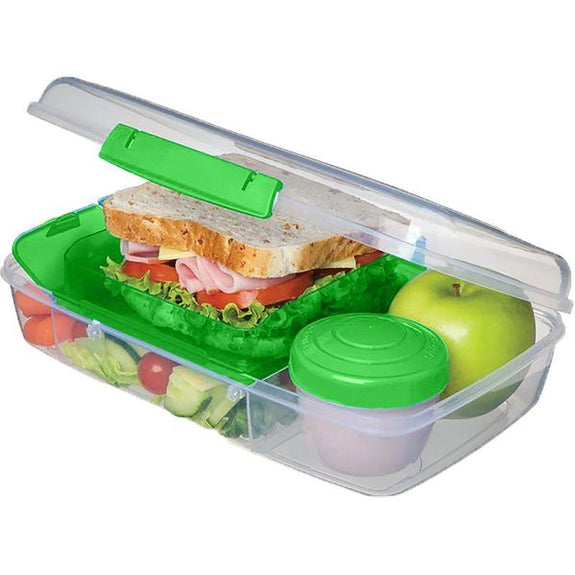 Bento Food Storage Container Set With 5 Compartments- 3 Pack-
