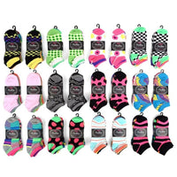 Daily Steals-Women's Assorted Ankle Socks - 30 Pairs-Women's Accessories-