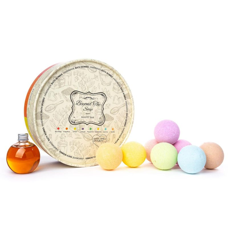 Beyond The Soap Bath Bomb & Shower Gel Aromatherapy Gift Set - 8 Piece-Daily Steals