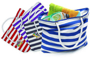 Fashionable Beach Tote Bag with Large Inner Zipper Pocket and Rope Handles-Daily Steals