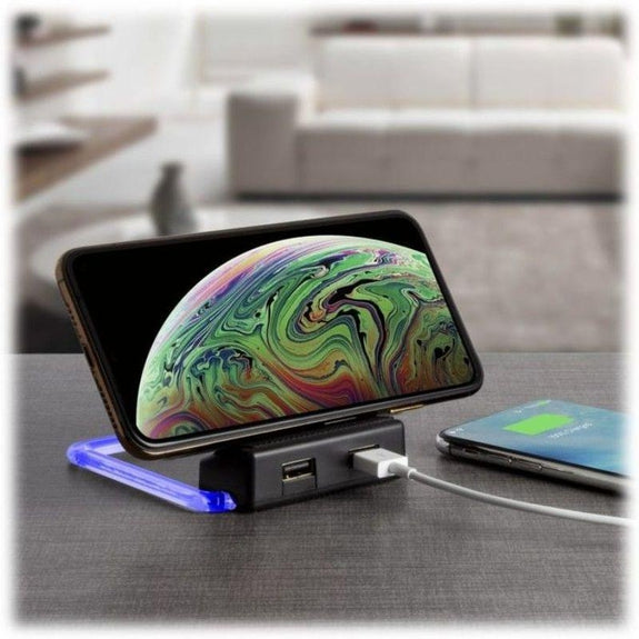 Xtreme Power Rotating Wireless Charger with 2 USB Ports - 2 Pack-Daily Steals