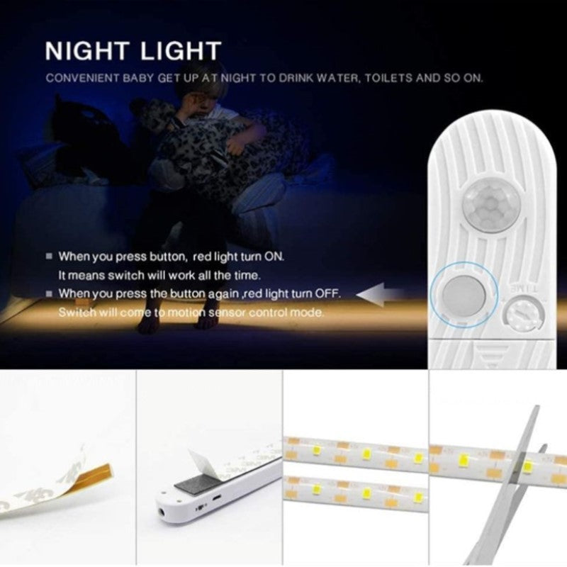 Battery Powered Motion Sensor LED Light Strips - 2 Pack