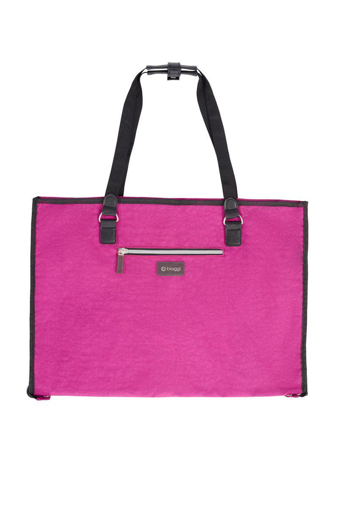 Biaggi Luggage Hangeroo Two-In-One Garment Bag + Tote-Magenta-Daily Steals
