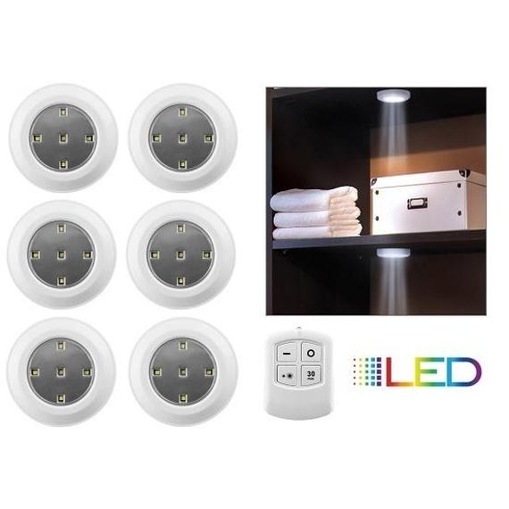 6pack liger wireless led puck lights with remote control - Led Puck Lights