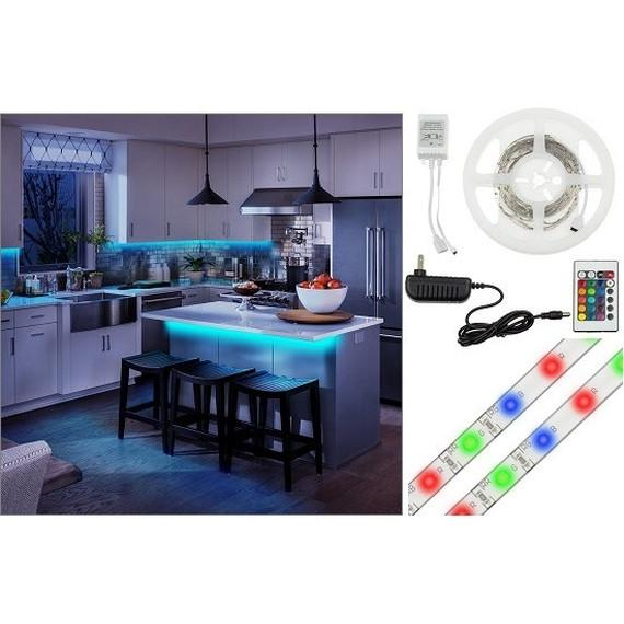 16-Foot Flexible Multi-Color LED Light Strip with Remote Control, Power Adapter, Many Lighting Patterns & Mounting Tape-Daily Steals