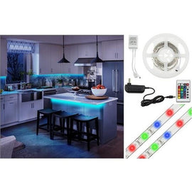 Daily Steals-16-Foot Flexible Multi-Color LED Light Strip with Remote Control, Power Adapter, Multiple Lighting Patterns & Mounting Tape-Multi-Color LED Light Strip with Remote Control-