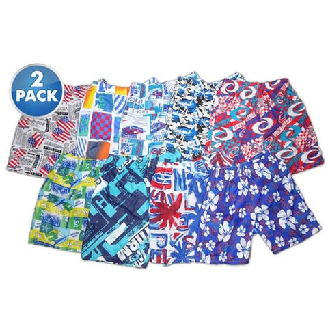 Daily Steals-[2-Pack] Men's Athletic Sport Swim Shorts-Men's Apparel-2XL-