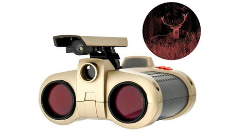 Daily Steals-Night-Scope Binoculars with 4x Magnification and Pop-Up Light for Night View-Outdoors and Tactical-