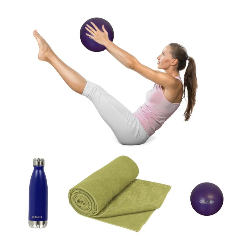 Bintiva Water Bottle, Yoga mat, and Mini Pilates Ball-Daily Steals