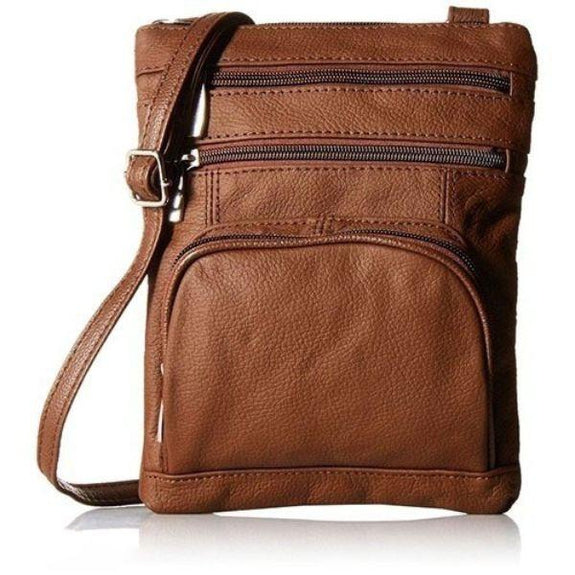 Daily Steals-Super Soft Leather Plus Size Crossbody Bag-Women's Accessories-Dark Brown-