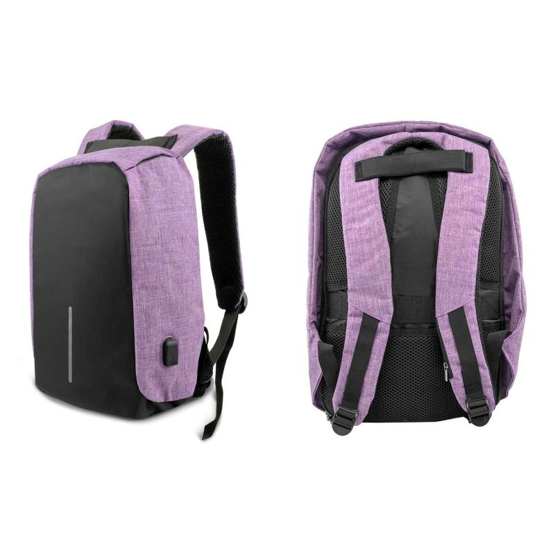 Anti-Theft Backpack with USB Charging Port-Purple-Daily Steals