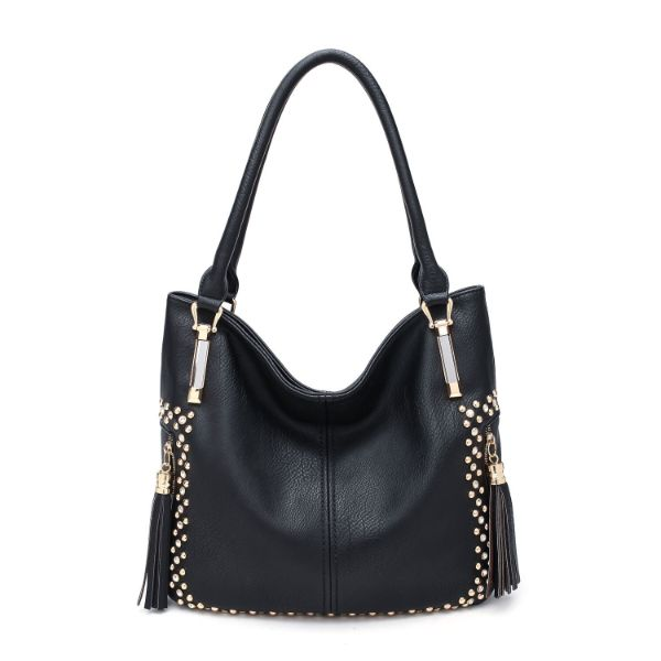 MKF Collection Betsy Shoulder Bag by Mia K. Farrow-Black-Studded-Daily Steals