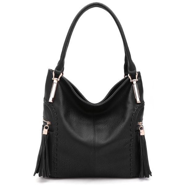 MKF Collection Betsy Shoulder Bag by Mia K. Farrow-Black-Classic-Daily Steals