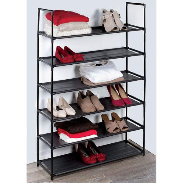 6-Tier Space Saving Shoe Rack (Fits 30 Pairs)-Daily Steals