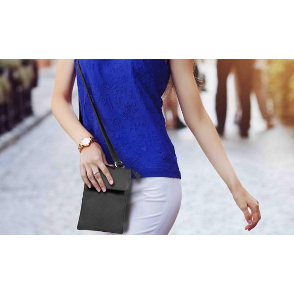 Genuine Leather Cell-Phone Cross-Body Wallet Purse-Daily Steals