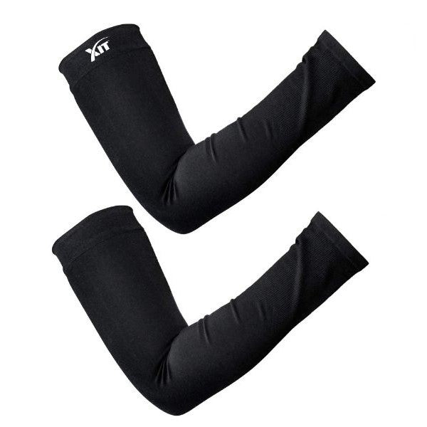 Cooling Sport Sleeves for Sports - 1 Pair-Black-Daily Steals