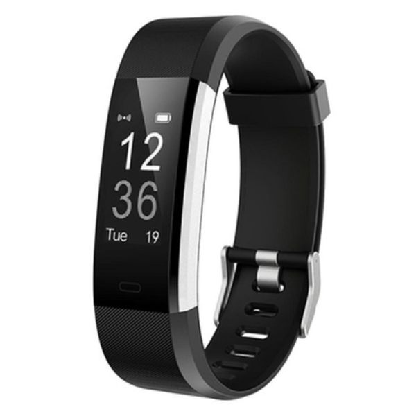 Fitness Tracker 0.96'' OLED Touch Screen with Heart Rate Monitor-Black-Daily Steals