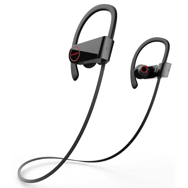 Liger BLAZE Bluetooth 4.1 Sweatproof Earbuds with Noise Cancelling and Mic-Black-Daily Steals