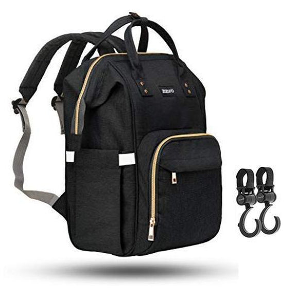 ZUZURO Diaper Bag Backpack - Multiple Pockets for Organization-Black-Daily Steals