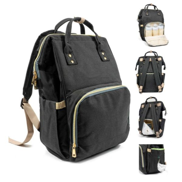 Diaper Bag Backpack- 9 Colors-Black-Daily Steals