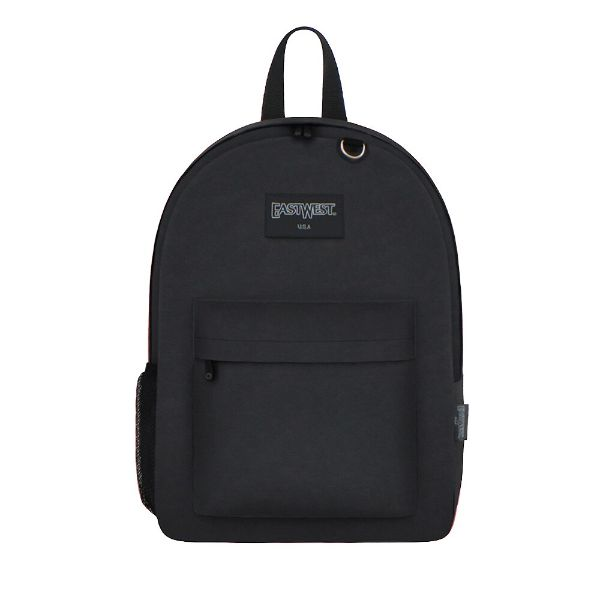 East West Classic Backpack with Key Holder and Bottle Holder-Black-Daily Steals