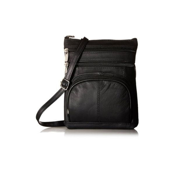 Super Soft Leather Crossbody Bag-Black-Daily Steals