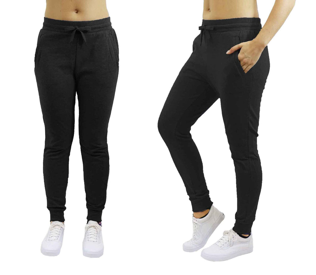 Women's Slim-Fit French Terry Jogger Sweatpants-Black-Large-Daily Steals