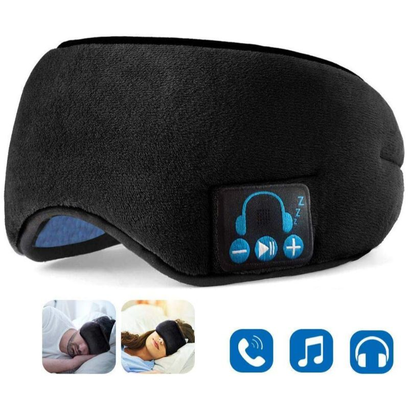 2N1 Wireless Music Eye Mask-Black-Daily Steals
